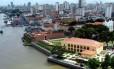 Vista aérea do centro antigo de Belém do Pará Foto: Paratur / Divulgação