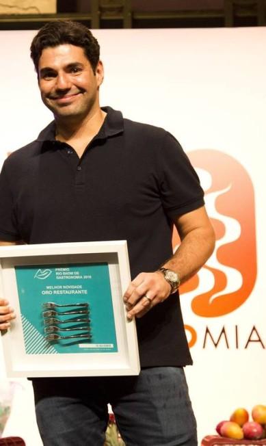 Vencedor na categoria Melhor Novidade, Felipe Bronze agora só come doces uma vez por semana Mônica Imbuzeiro / Agência O Globo