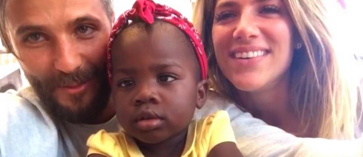 Bruno, Titi e Giovanna: casal denuncia racismo contra a filha Foto: Reprodução