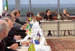 Presidente do STF, Cármen Lúcia, se reúne com presidentes dos tribunais de Justiça dos estados Foto: Divulgação STF