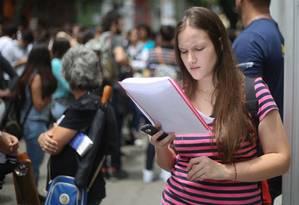 Enem na Universidade Uninove da Barra Funda Foto: Agência O Globo
