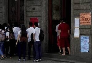 Colégio Pedro II do Centro participou do movimento de ocupação das escolas contra a MP do ensino médio e PEC 55 Foto: Agência O Globo