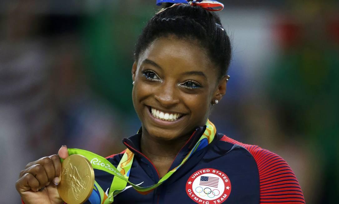 Simone Biles durante os Jogos Olímpicos do Rio Rebecca Blackwell / AP