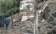 Destruição. Montanha de lama e entulho encobre casas no Quitandinha: barulho ensurdecedor anunciou a tragédia