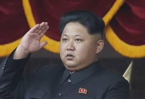 O líder norte-coreano participa de um evento em Pyongyang Foto: Wong Maye-E / AP
