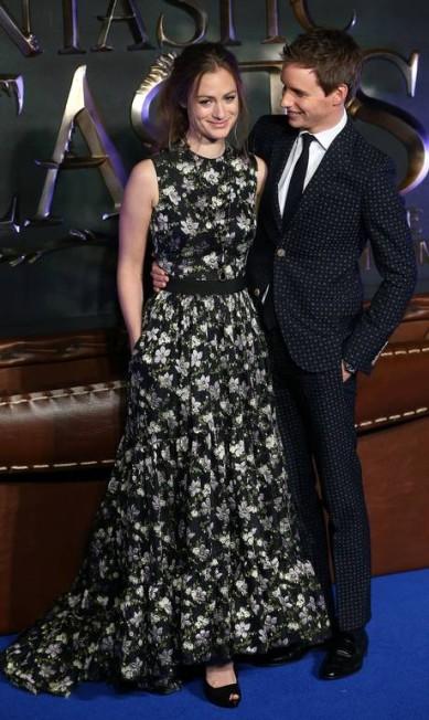 Eddie Redmayne com a mulher, a executiva Hannah Bagshawe NEIL HALL / REUTERS