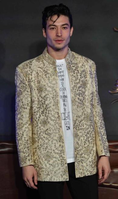 O ator Ezra Miller BEN STANSALL / AFP