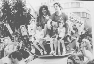 Campos dos Goytacazes. No PDT, Anthony Garotinho, ao lado de Rosinha, comemora eleição para a prefeitura da sua cidade Foto: Míriam Fichtner 18/11/1988 / Agência O Globo