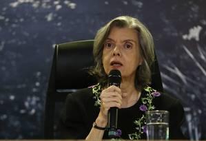 A presidente do STF Cármen Lúcia Foto: Ailton de Freitas / Agência O Globo