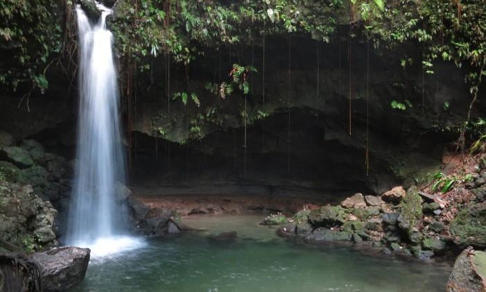 Cachoeira em Dominica Foto: Bruno Goes / Agência O Globo/28-04-2015