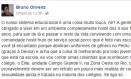 Estudante relatou casos em publicação no Facebook Foto: Reprodução Facebook