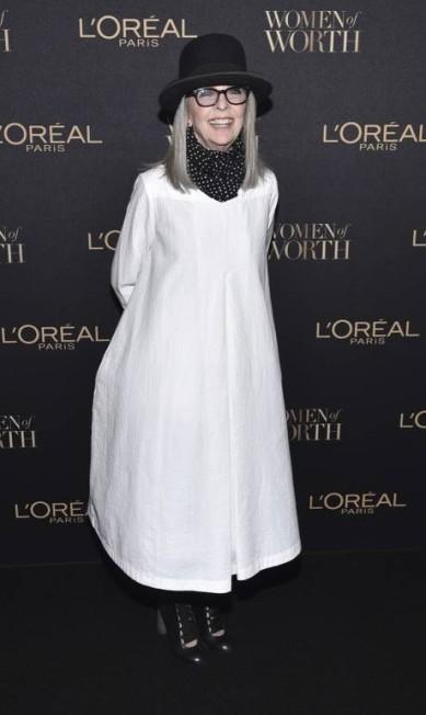 Diane Keaton também esteve no evento Evan Agostini / Evan Agostini/Invision/AP