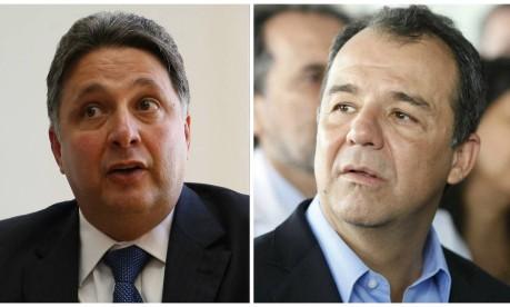 Os ex-governadores do Rio Anthony Garotinho e Sérgio Cabral Foto: Montagem O GLOBO