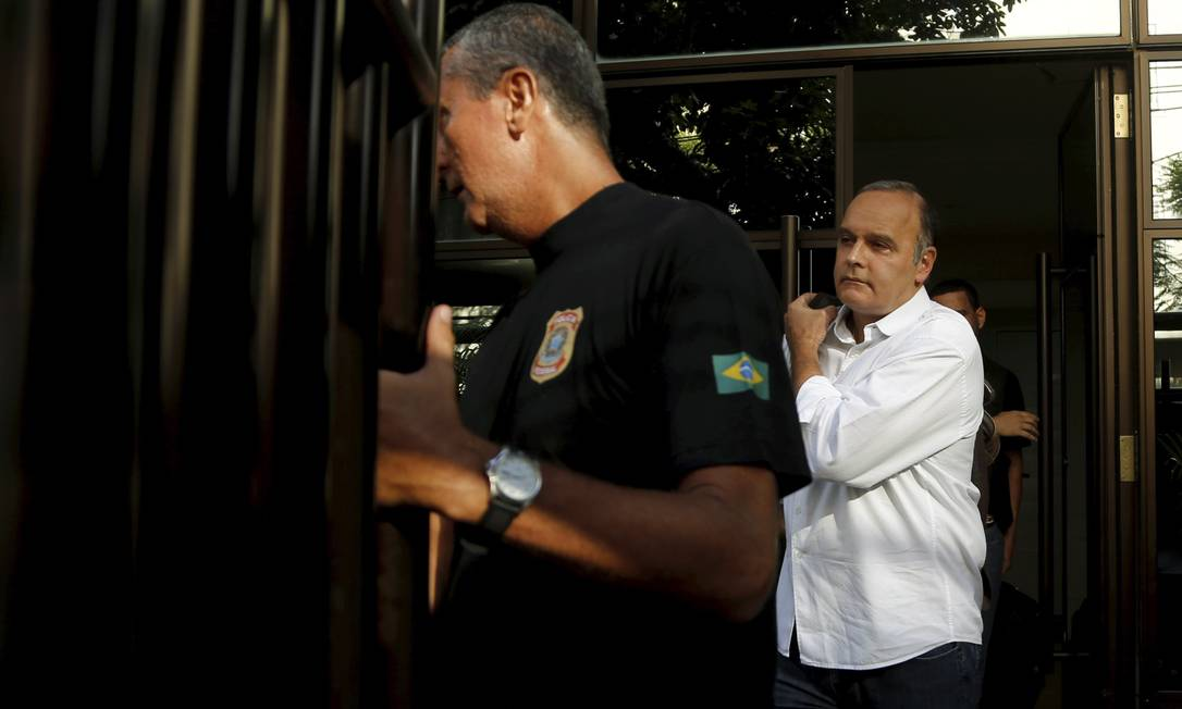 Prisão do ex-secretário do governo Sérgio Cabral, Wilson Carlos Cordeiro , em sua casa na Gávea Gabriel de Paiva / Agência O Globo