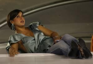 Adriana Ancelmo no desfile das escolas de samba do Grupo Especial em 2009 Foto: Alexandre Cassiano / Agência O Globo