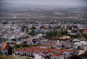 Vista geral da cidade de Osuna e sua Plaza de Toros, usada em locação da série da HBO