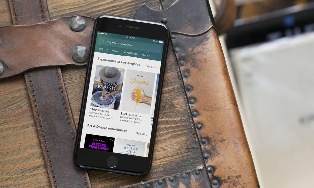 Novo aplicativo do Airbnb, com a plataforma Trips Foto: Airbnb / Divulgação