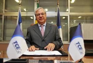 Presidente do Tribunal de Contas do Estado (TCE), Jonas Lopes, foi apontado em delação como negociador do pagamento de propina Foto: Urbano Erbiste/9-7-2013