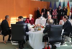 Presidente dos EUA, Barack Obama, se reúne com líderes europeus em Berlim Foto: Kay Nietfeld / AP