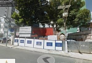 Local de construção do La Vue, em Salvador Foto: Reprodução
