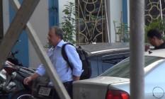 Operação Calicute: O ex-governador do Rio Sérgio Cabral na chegada à Polícia Federal Foto: Celso Barbosa/17-11-2016/ Agência O Globo