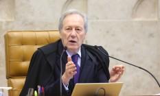 O ministro Ricardo Lewandowski foi relator do processo no Supremo Foto: Ailton de Freitas / O Globo