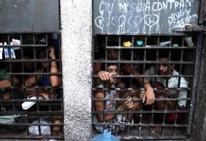 Cela superlotada de uma unidade prisional em Sergipe Foto: Luiz Silveira/Agência CNJ/25-11-2013