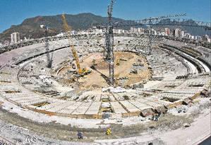 Maracanã: Reforma de R$ 1,2 bilhão foi liderada pela Odebrecht. Se confirmada propina de 5%, denunciada pela Lava-Jato, obra rendeu R$ 60 milhões a esquema de Cabral Foto: Ivo Gonzalez/ 05-09-2012/ Agência O Globo