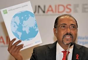 Michel Sidibé, diretor executivo da UNAIDS, considera avanços 'notáveis', mas 'incrivelmente frágeis' Foto: PHILIPPE LOPEZ / AFP