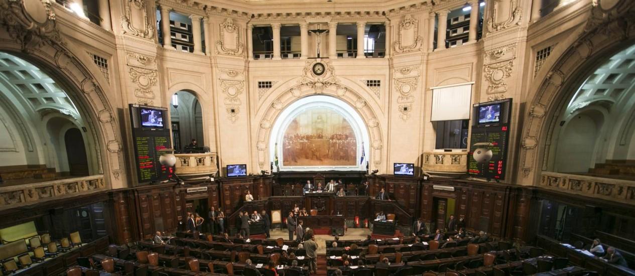 O interior da Assembleia Legislativa do Rio Foto: Guito Moreto - 16/11/2016 / Agência O Globo