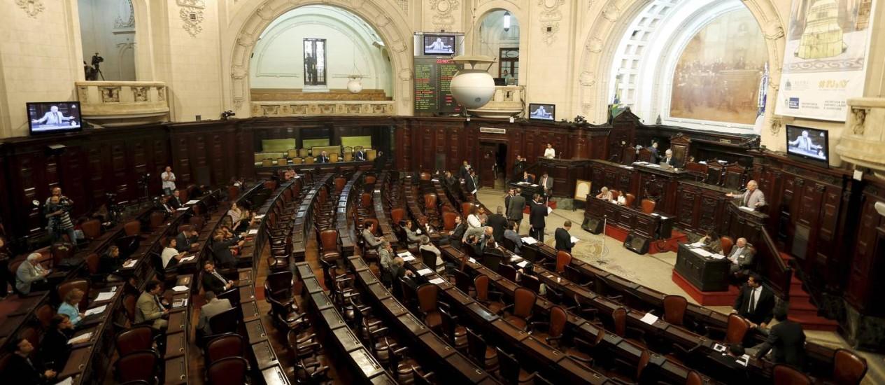 Sessão de votação de pacotes de austeridade do governo Foto: Gabriel de Paiva / Agência O Globo