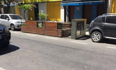 Instalação faz parte do Projeto Paradas Cariocas Foto: Foto de leitor/ Enviada pelo Whatsapp