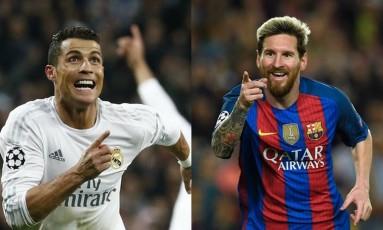 Cristiano Ronaldo e Lionel Messi estarão em campo neste domingo Foto: AFP PHOTO / LLUIS GENE