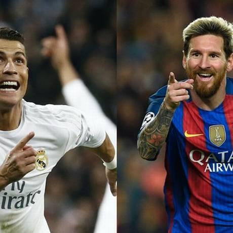 Cristiano Ronaldo e Lionel Messi estarão em campo neste sábado Foto: AFP PHOTO / LLUIS GENE