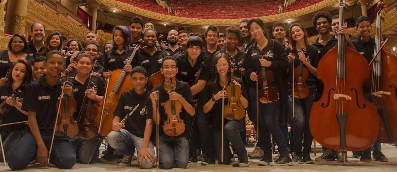 Músicos da Orquestra Maré do Amanhã Foto: Divulgação