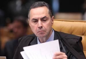 Ministro do STF Luís Roberto Barroso Foto: André Coelho / Agência O Globo