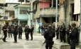 Agentes da Polícia Civil durante operação na Cidade de Deus
