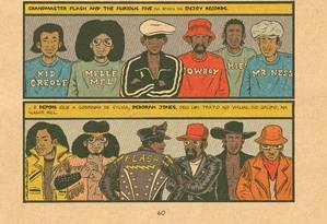 O quadrinho 'Hip hop genealogia', de Ed Piskor Foto: Divulgação