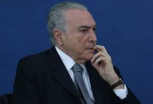 O presidente da República, Michel Temer Foto: Andre Coelho / Agência O Globo / 24-11-2016