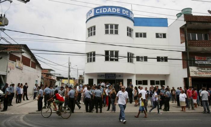 Prédio da UPP da Cidade de Deus Foto: Fabiano Rocha / Agência O Globo