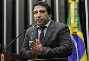 O senador Magno Malta (PR-ES) foi um dos poucos a criticar a manobra do relator do projeto, Romero Jucá Foto: Moreira Mariz / Agência Senado/7-7-2016