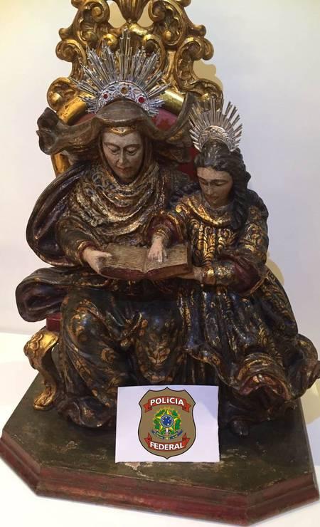 Escultura de Sant'ana de Sérgio Cabral Foto: Reprodução