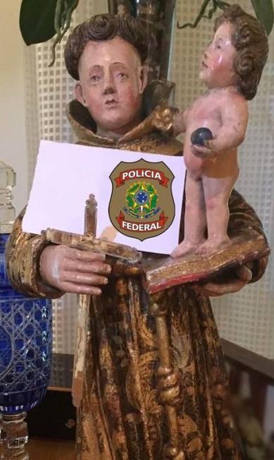 Outra escultura encontrada pelos agentes da PF Reprodução