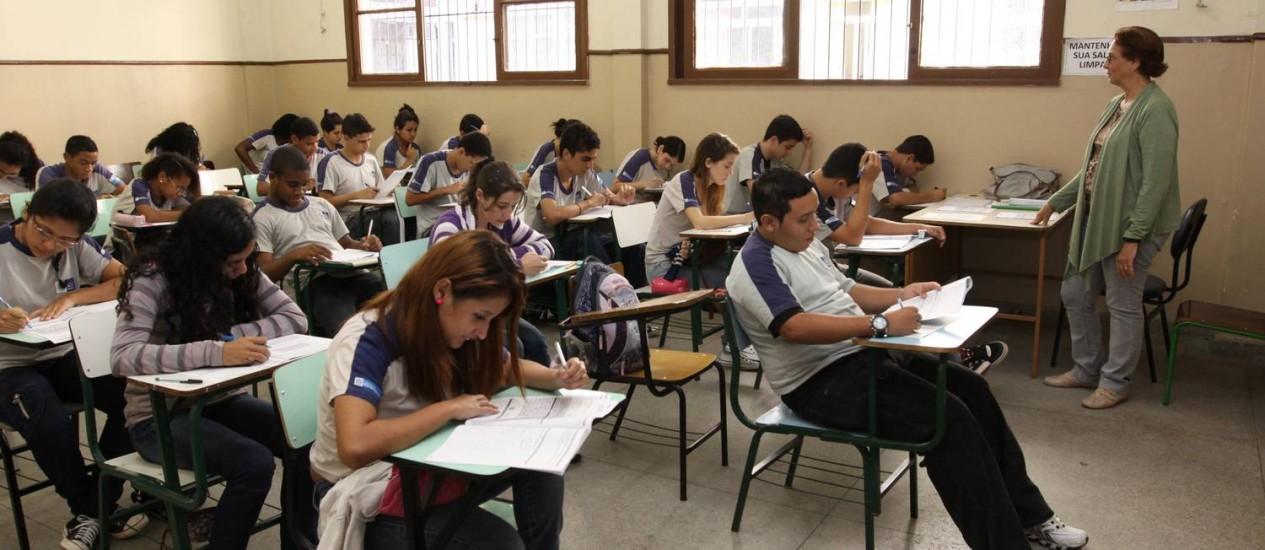 Estado sanciona lei que permite doações de empresas a escolas da rede Foto: Marcia Costa / Agência O Globo