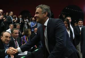 BRASIL - BRASÍLIA -BSB - 25/11/2016 - O senador Aécio Neves (PSDB-MG) Foto: Andre Coelho 25/11/2016 / Agência O Globo