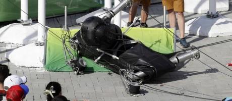 Câmera cai no Parque Olímpico em 15 de agosto, deixando oito feridos Foto: Robert F. Bukaty / AP