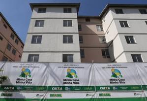 Sistema. Minha Casa no Rio: mudança reduz de 100 mil para R$ 70 mil o limite do financiamento imobiliário para famílias com renda de R$ 2.000 Foto: Márcio Alves / Agência O Globo/14-7-2016