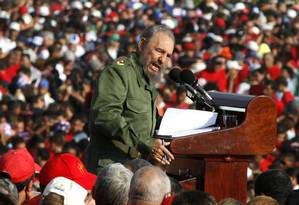 Fidel discursou em Havana no dia do trabalhados, em 2006 Foto: Javier Galeano / AP
