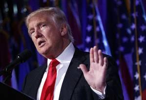 O presidente eleito dos EUA, Donald Trump, fez comentários duros sobre Fidel Castro Foto: Evan Vucci / AP