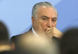 O presidente da República, Michel Temer Foto: Jorge William / Agência O Globo / 27-11-2016